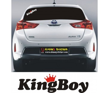 King boy (Kral çocuk)Sticker,oto sticker,motosiklet sticker
