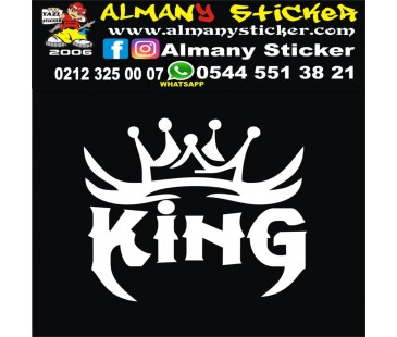 King kral sticker,oto sticker