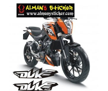 Ktm Duke 125 Sticker set