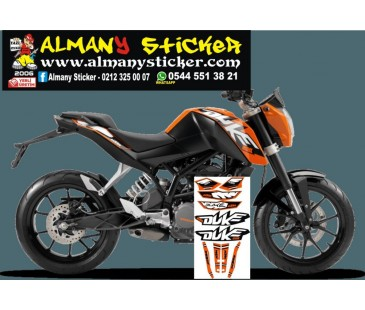 Ktm duke 200 sticker set,ktm sticker,duke sticker,motosiklet sticker