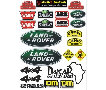 Land Rover Sticker Set,jeep Sticker
