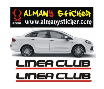 Linea club sticker,oto sticker