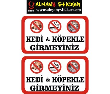 Lokanta sticker (kedi köpek giremez sticker)
