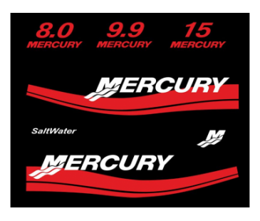 Mercury 8.0,9.9,15. Sticker set,Tekne Motorları Sticker