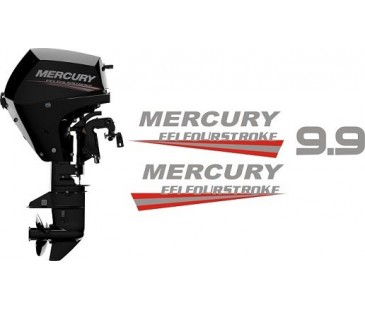 Mercury 9.9 hp tekne motoru sticker