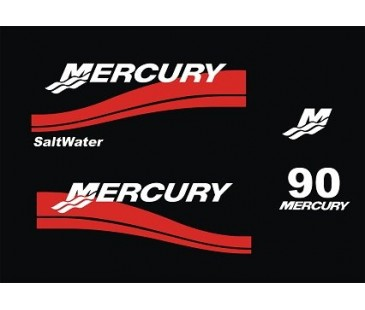 Mercury 90hp sticker set