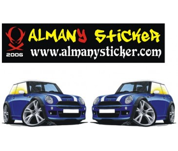 Mini Cooper Basık Araç Sticker,oto sticker