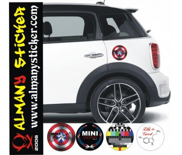 Mini Cooper Depo Kapağı Sticker-1