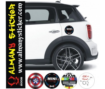 Mini Cooper Depo Kapağı Sticker-2