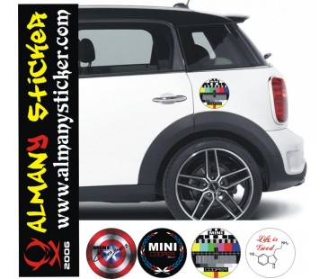 Mini Cooper Depo Kapağı Sticker-3