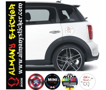 Mini Cooper Depo Kapağı Sticker-4,Mini cooper set sticker,mini cooper sticker,oto sticker