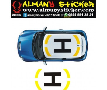 Mini Cooper Helikopter Sticker,oto sticker