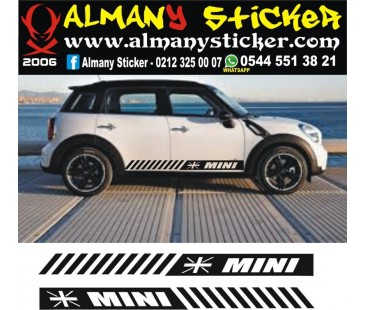 Mini Cooper yan marşbiyel ingiltere bayrağı sticker-2,mini cooper sticker,oto sticker
