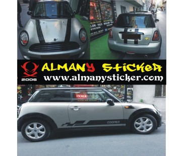 Mini cooper set sticker-13,mini cooper sticker,oto sticker