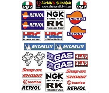Motosiklet Set Sticker-2