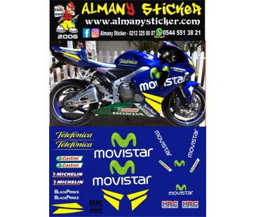 Movistar sticker set,600rr ,1000rr sticker