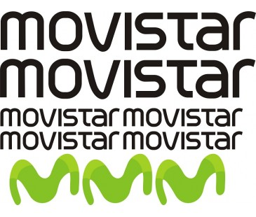 Movistar sticker set,motosiklet sticker