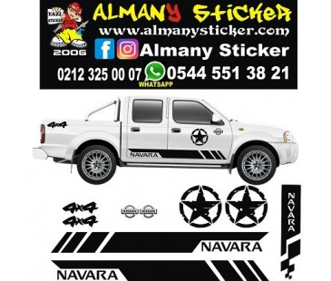 NİSSAN NAVARA SET STİCKER  YENİ