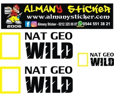 Nat geo wild sticker,national geographic sticker