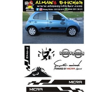 Nissan Micra Sticker set