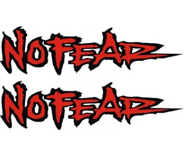No Fear sticker,korkusuz sticker,motosiklet sticker