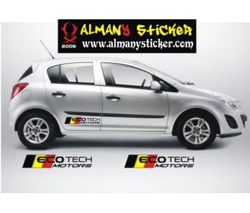 Opel Corsa Ecotech Motor Sticker,Opel Sticker,astra sticker,oto sticker