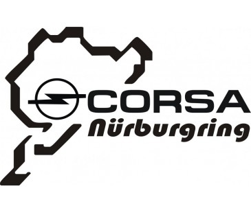 Opel Corsa Nurburgring Sticker,CORSA STİCKER,OPEL STICKER,OTO STICKER