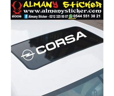 Opel Corsa Sanroof Sticker,opel sticker,oto sticker
