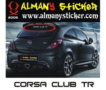 Opel Corsa club tr sticker