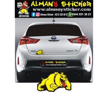 Oto Sticker,motosiklet sticker,bulldog sticker