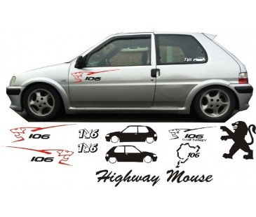 PEUGEOT 106 STİCKER SET