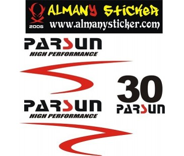 Parsun 30 hp sticker