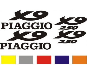 Piaggio x9 sticker set