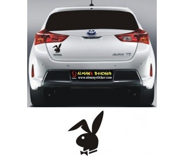 Playboy çapkın tavşan sticker,oto sticker