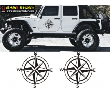 Pusula sticker,jeep sticker