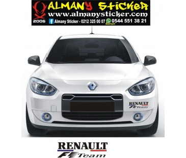 Renault f1 team sticker,renault sticker,clio sticker,araba sticker,oto sticker