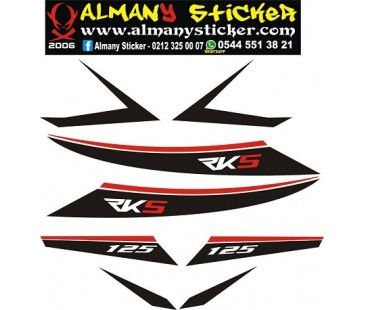 Rks Titanic 150,125,200 sticker set-2