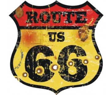 Route 66 sticker-5,oto sticker,motosiklet sticker