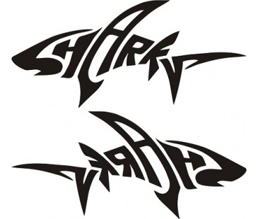 Shark sticker,motosiklet sticker