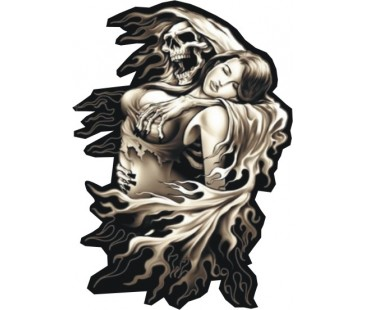 Skull And Women Sticker