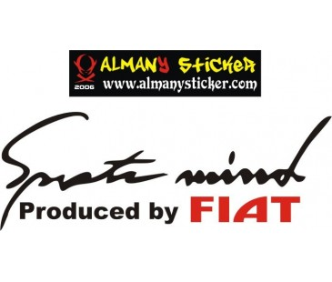 Sport mind Fiat sticker,fiat sticker,oto sticker