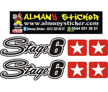Stage6 sticker,motosiklet sticker