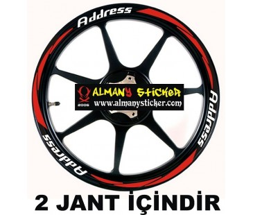 Suzuki Address jant şeridi,address sticker