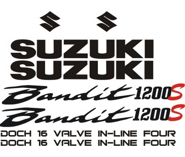 Suzuki bandit 1200s sticker set,motosiklet sticker