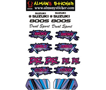 Suzuki dr650,350,800s sticker set