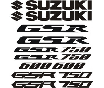 Suzuki gsr 600,750 sticker set