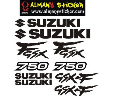 Suzuki gsxf 750 sticker set