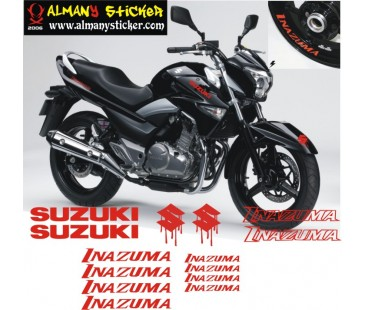 Suzuki inazuma sticker set
