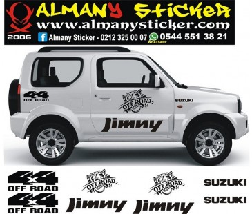 Suzuki jimny sticker set-678,jeep off road sticker