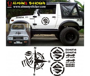 Suzuki samurai sticker.jeep off road sticker,oto sticker,jeep sticker-1